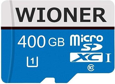 Tarjeta Micro SD Tarjeta de Memoria de Clase 10 de Alta Velocidad de 128 GB 256 GB 400 GB con Adaptador