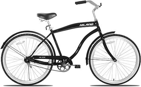 Hiland Bicicleta Cruiser para hombre de 26 pulgadas con freno de ...