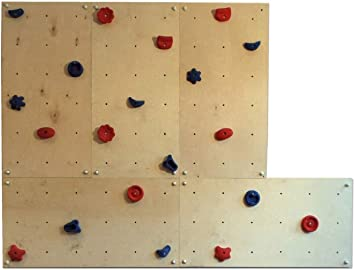 Gartenpirat pared escalada interiores 3,60 m²-Set IW5 - 5 Paneles 20 Presas