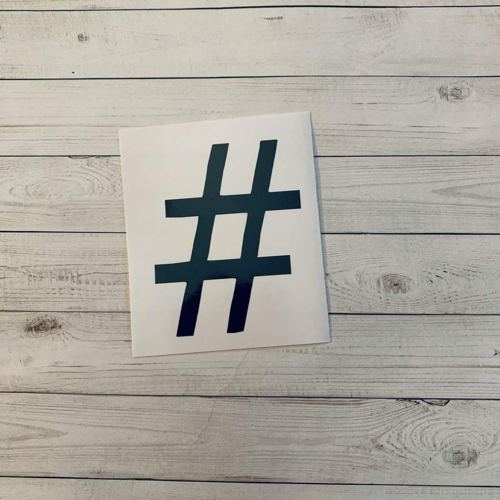 Hash Tag Vinyl Sticker, Decorations, Music Party Supplies, Hash Tag Sticker, Decal, Glitter, Metallic, Holographic