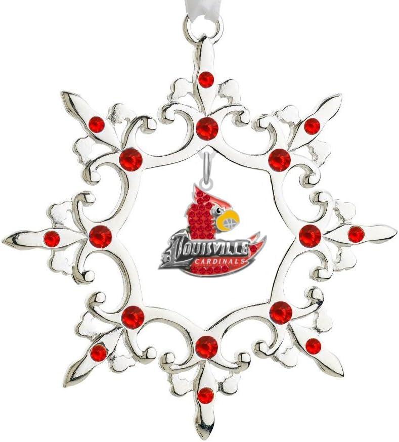 NCAA Louisville Cardinals Art Glass Ornament