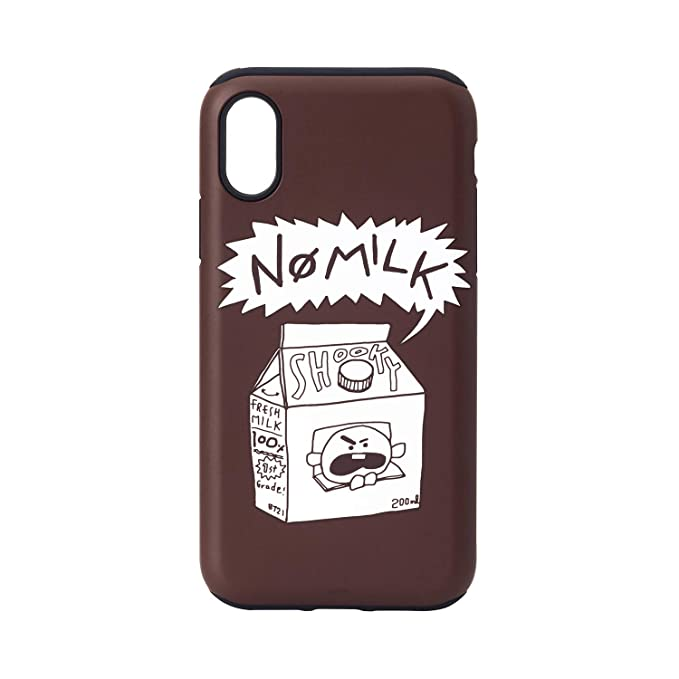 BT21 Official Merchandise by Line Friends - SHOOKY iPhone X Case, Slim Fit  Heavy Drop Protection w/Poster Design Back Cover