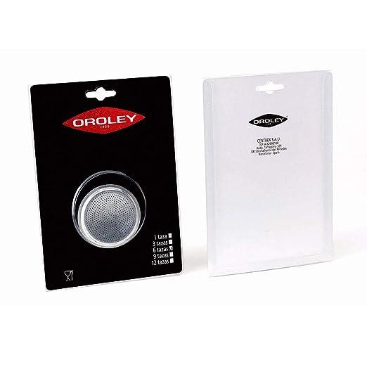 Oroley - Recambio Filtro Cafetera de Aluminio, 6 Tazas ...