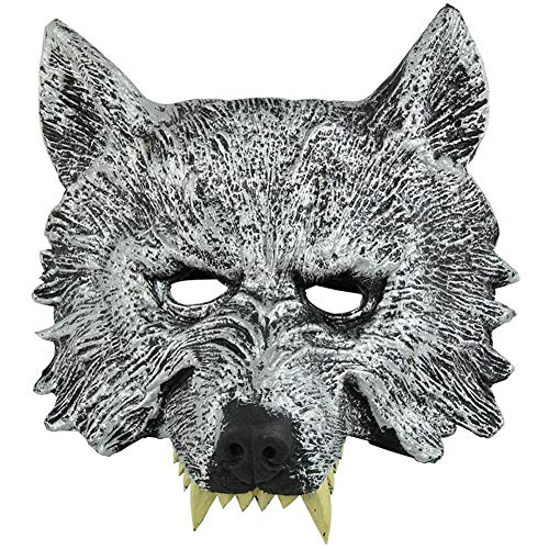LODDD Halloween Wolf Head Mask The Masquerade Party Costume Horror Mask