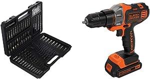 BLACK+DECKER BDA91109 Combination Accessory Set, 109-Piece with BLACK+DECKER BDCDMT120C 20-Volt MAX Lithium-Ion Matrix Drill/Driver