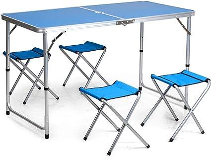 Mesas Plegables rectangulares Placa de Aluminio Plegable en ...