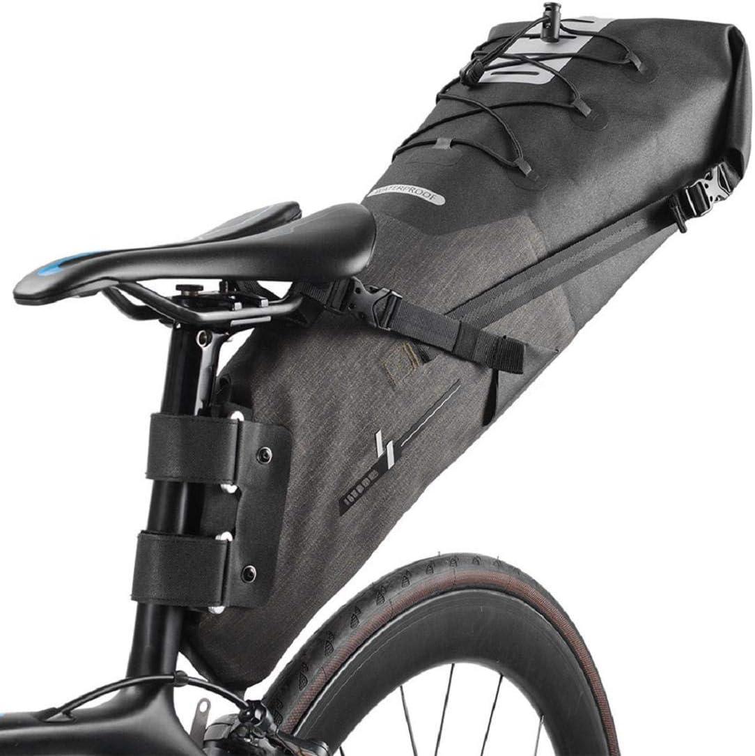 Vacally 12L Bike Seat Saddle Wedge Pack Pannier Storage Bag Mountain Road MTB Bicycle Bike Cycling PU Saddle Bag, Bicycle Repair Tools Pocket Pack Riding Cycling Supplies