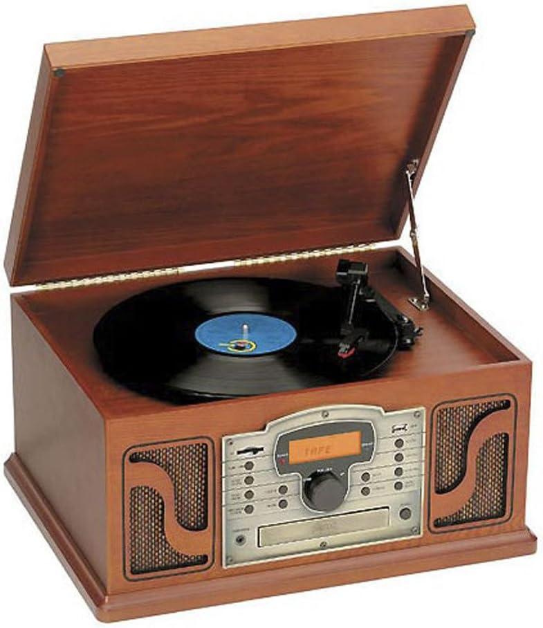 Tocadiscos Retro Vintage con Casette, CD/MP3, Radio PLL Y USB ...