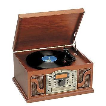 TOCADISCOS RETRO VINTAGE CON CASETTE, CD/MP3, RADIO PLL Y ...