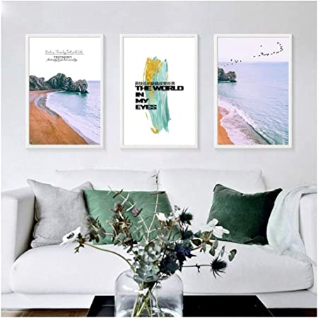 Adgkitb Canvas Décoration Minimalisme Art Ocean Beach Toile