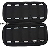 USB Flash Drive Case, USB Holder Case 10 Capacites Electronic Accessories Organizer, Solft Storage Bag for Zip Drive/Thumb Drive/Jump Drive/Memory Stick by Uactor