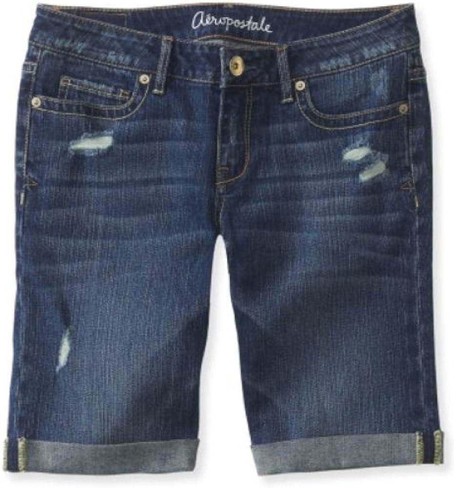 Amazon Com Aeropostale Women S Bermuda Jean Shorts Clothing