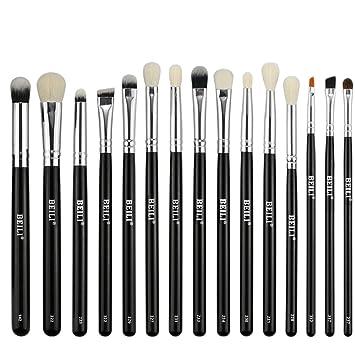 Amazon Com Beili 15 Pieces Pro Makeup Eye Brush Set Smoky Eye