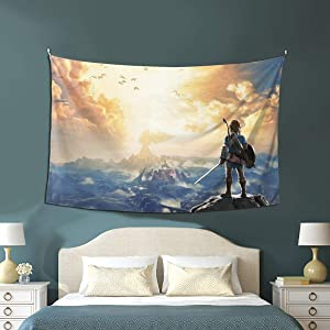 HBZZT The Legend of Zelda Wall Tapestry l Hanging Home Decor Extra Large tablecloths 40x60 inches for Bedroom Living Room Dorm Room