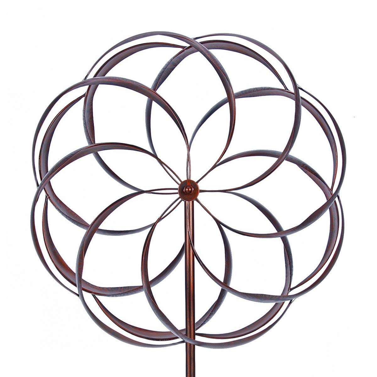 WinWindSpinner Kinetic Wind Spinners 24 inch Outdoor Metal Yard Spinner with Gardening Decorations with Dual Direction Decorative Lawn Ornament Wind Mills