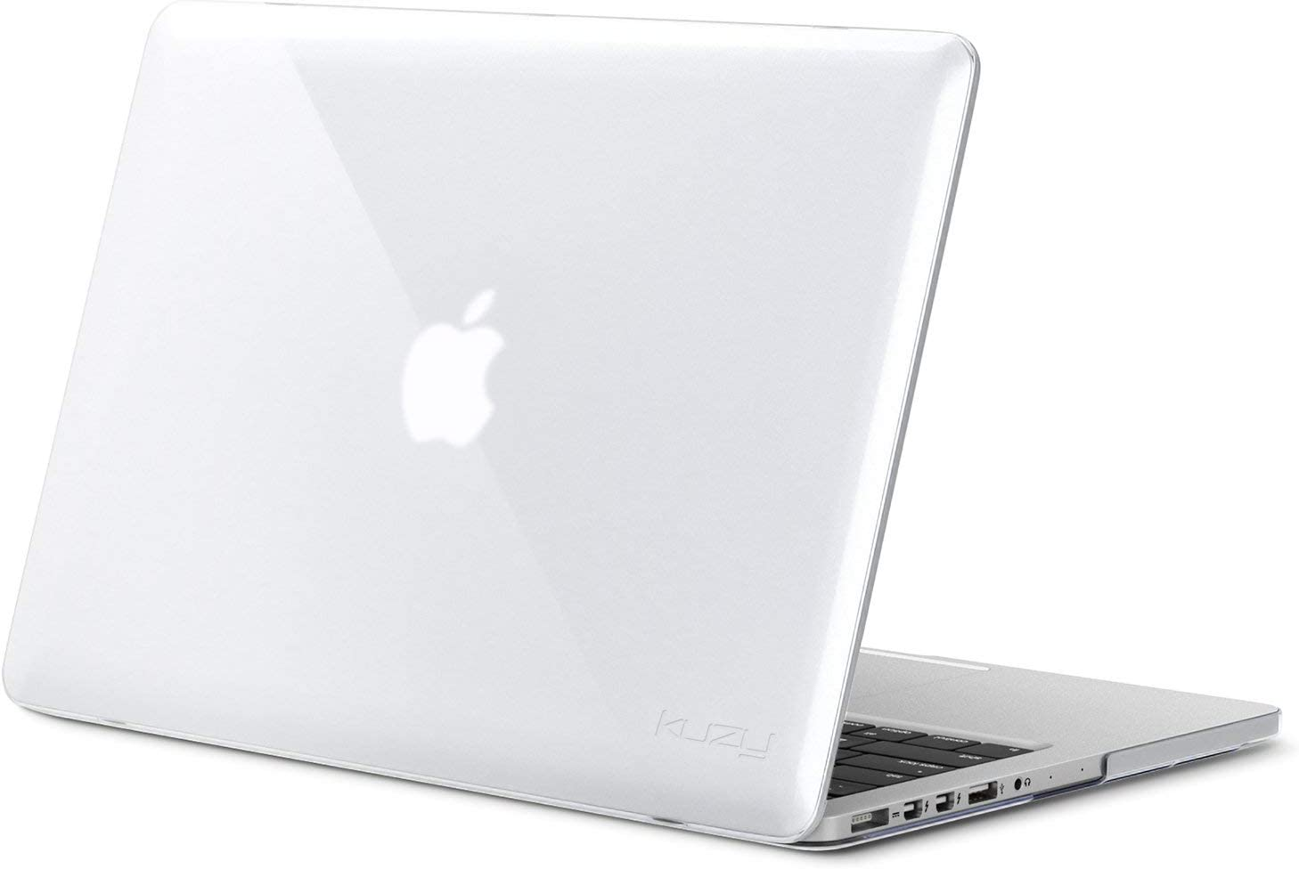 Kuzy - Older MacBook Pro 15.4 inch Case Model A1398 with Retina Display Soft Touch 15 inch Plastic Hard Shell Cover - Clear