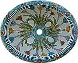 Color y Tradicion Talavera Mexican Hand Painted Sink