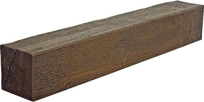 Ekena Millwork MANURS04X06X72HD Rough Sawn Faux Wood Fireplace Mantel Honey Dew Inside: 2H x 5D x 70W 4H x 6D x 72W