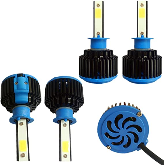 RSSONG H1 LED coche faros bombilla COB auto H1 LED linterna CANBUS ...