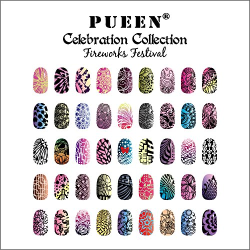 Amazon pueen nail art stamping plate celebration collection amazon pueen nail art stamping plate celebration collection fireworks festival new invention super size all you can stamp full size stamping image prinsesfo Choice Image
