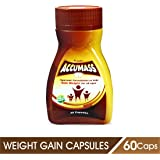 Accumass Natural Weight Gainer Capsules For Men & Women, (60Caps, Pack Of 2)