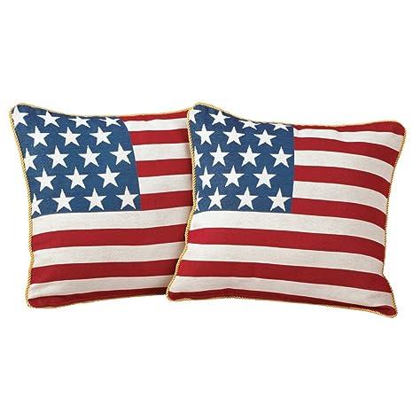 Amazon.com: Americana, bandera de EE. UU., Throw decorativos ...