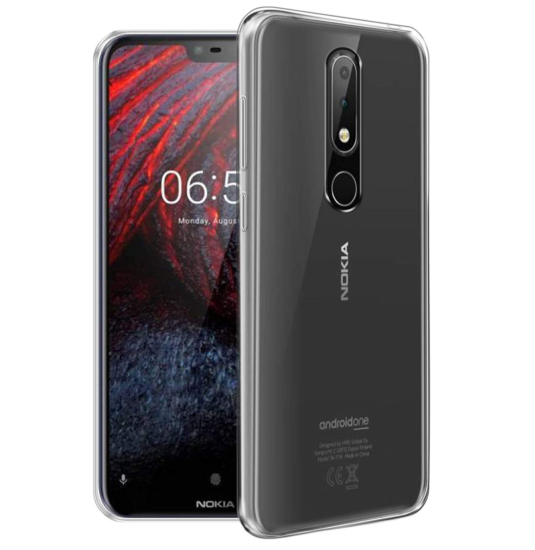 on sale 16a79 90166 Yofo Silicon Transparent Soft Back Cover for Nokia 6.1 Plus 2018  (Transparent)