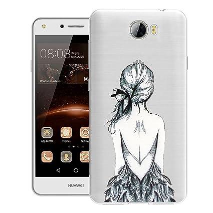 ocketcase Huawei Y6 II Compact / Y6 2 Compact Funda, TPU Carcasa Suave Silicona Flexible Gel Funda Resistente a los Arañazos Tapa Protectora Case ...