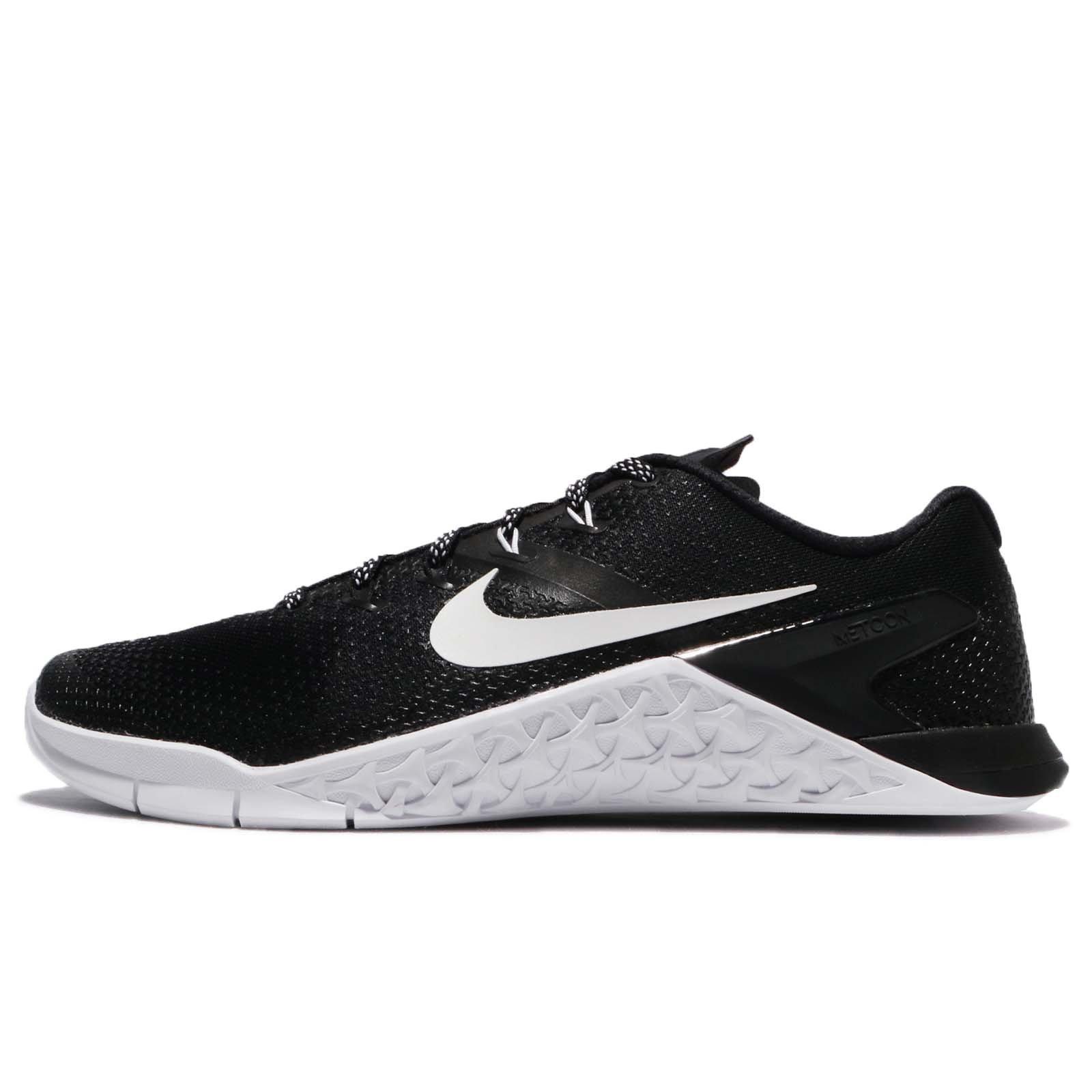 Nike Metcon 4 Mens Cross Training Shoes (7, Black/White)