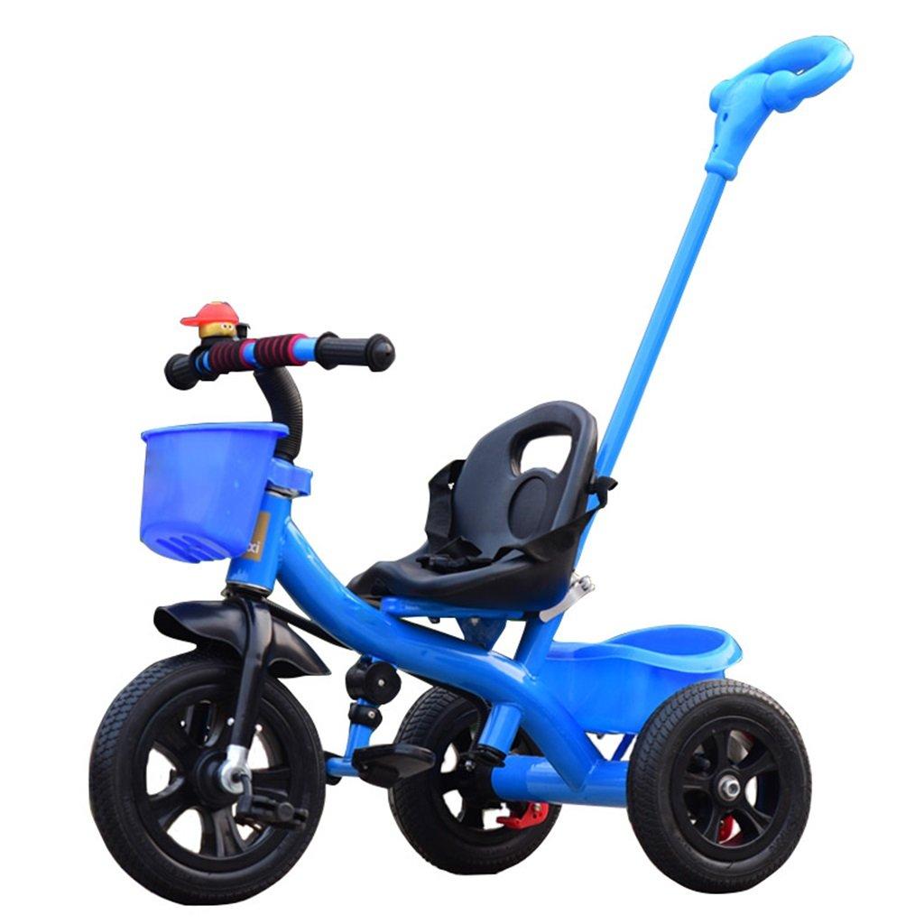 KANGR-子ども用自転車 三輪車の赤ちゃんキャリッジバイク子供のおもちゃの車のインフレータブルホイール/ 1-2-3-4歳(男の子/女の子)、青に適した泡ホイール自転車 ( 色 : B type ) B07BTV1F69 B type B type