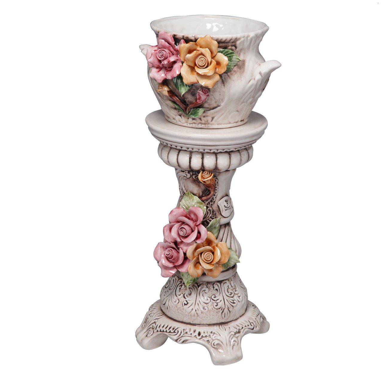 ヴェローナアクセサリーズ 陶製コラムポット B00TTK1U0Q