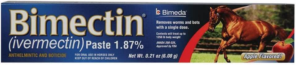 Amazon.com : Bimectin 1.87% Single Dose Paste Wormer : Pet