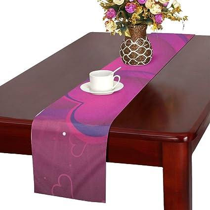 Astounding Amazon Com Aikening Rays Purple Heart Shape Frame Table Interior Design Ideas Gresisoteloinfo