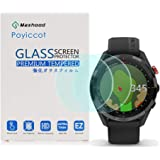 Poyiccot for Garmin Approach S62 Screen Protector Tempered Glass, 2Pack 9H Hardness Anti-Fingerprint Tempered Glass Screen Protector for Garmin Approach S62
