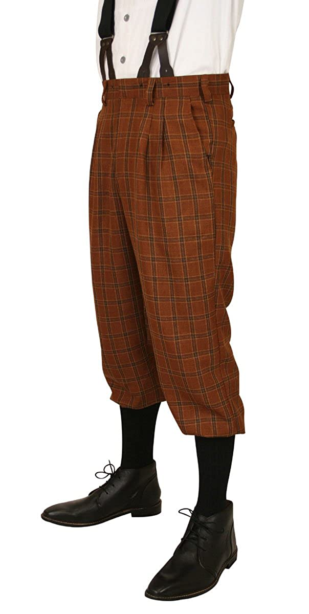 Men's 1900s Costumes: Indiana Jones, WW1 Pilot, Safari Costumes Historical Emporium Mens Harvey Plaid Knickers $64.95 AT vintagedancer.com