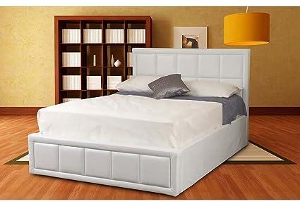Outstanding Sweet Dreams Tern Leather Ottoman Bed White Single Creativecarmelina Interior Chair Design Creativecarmelinacom