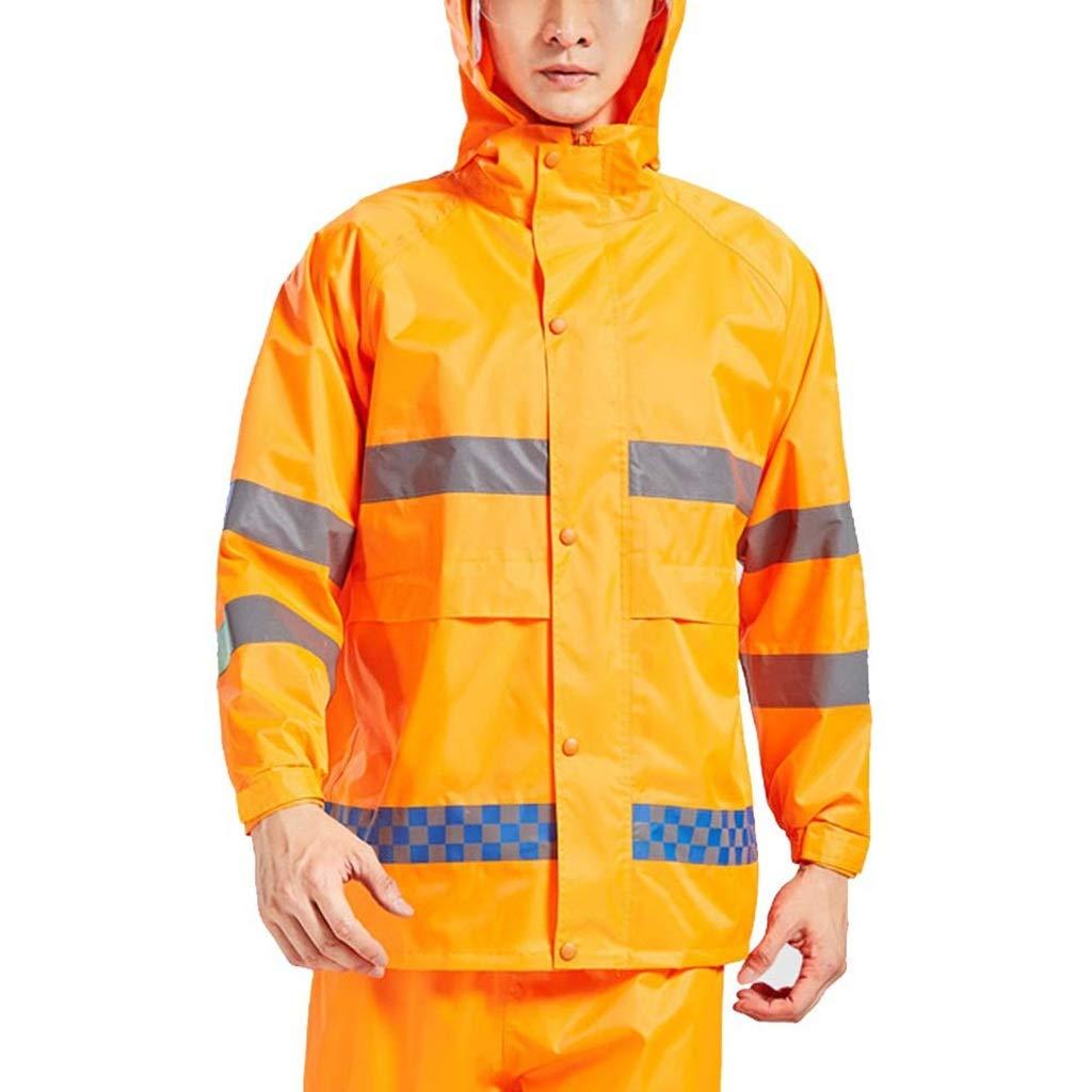Deep jaune Medium I will take action now Combinaison imperméable imperméable Pluie Veste imperméable imperméable Pluie Veste pour Hommes Veste de Sport de Montagne Multi-Poches