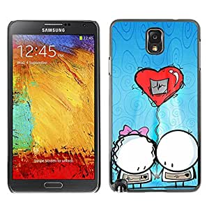 Paccase / SLIM PC / Aliminium Casa Carcasa Funda Case Cover - Cute Balloon Couple - Samsung Note 3 N9000 N9002 N9005