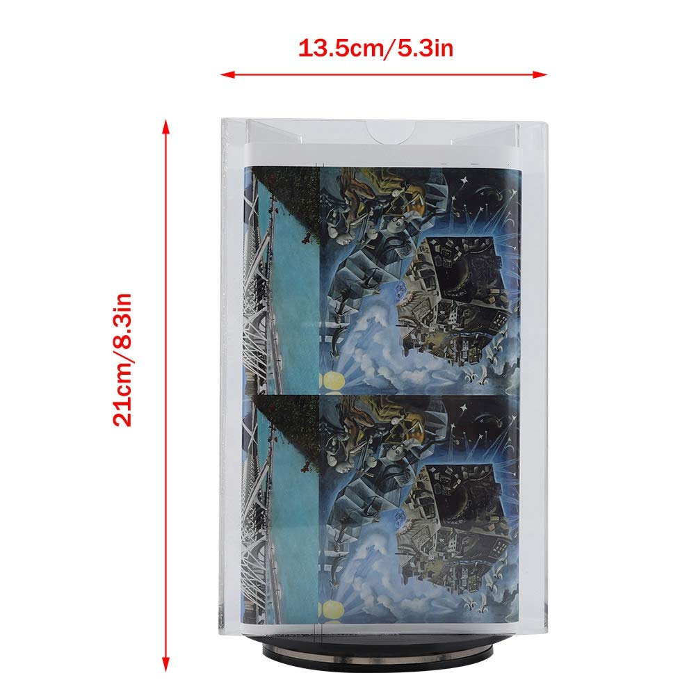 Rotating 3 Sides Acrylic Photo Frame Poster Picture Holder Menu Sign Display