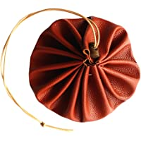 """BAOBLADE 15"""" Large Leather Drawstring Pouch For Storaging Tinder, Foraged Edibles, Herbs Or Other Ultility Items"""