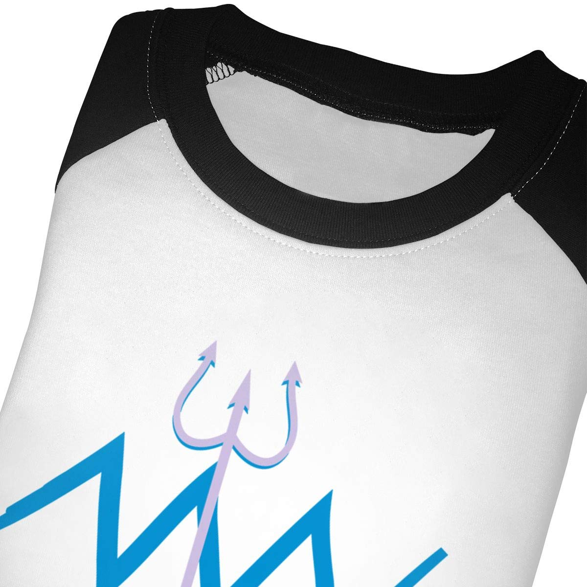 Zodiac Aquarius Trident Raglan 3//4 Sleeve Shirt for Girl Boys