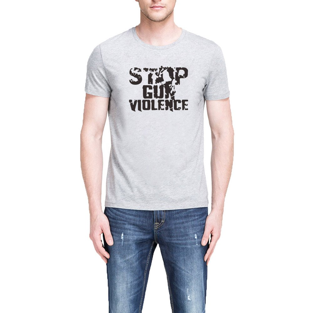 Loo Show S Stop Gun Violence Casual Graphic T Shirts Tee