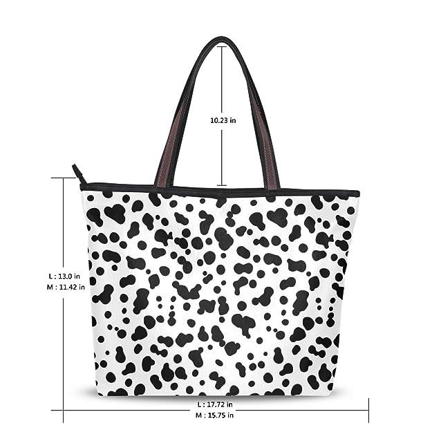 Milk Leopard Print Decor Womens Travel Shopping One Shoulder Zipper