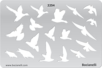 Plastic Stencil Template for Graphical Design Drawing Drafting Jewellery Making - Bird Birds