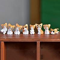P S Retail PVC Cute Micro Landscape Kitten (Multicolour) - 8 Pcs/Set