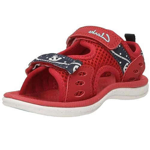 90cf5e58 Clarks Sandalias de vestir para niño RED F SS16: Amazon.es: Zapatos y  complementos