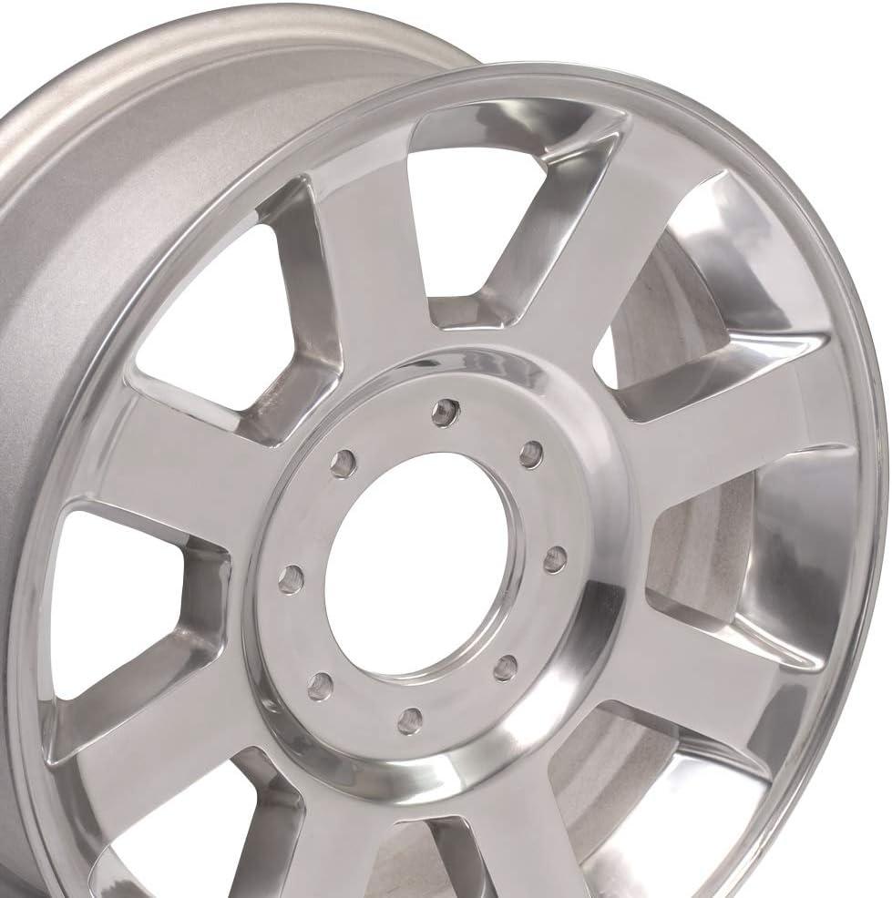 OE Wheels 20 Inch Fits Ford F250 F350 Super Duty Style FR78 Polished 20x8 Rim Hollander 3693