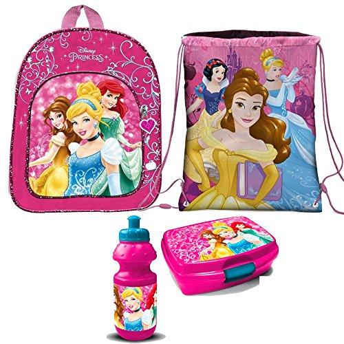 Disney Princess Prinzessin Cinderella 4 Teile Set RUCKSACK KINDERGARTEN mit Sticker von Kids4shop Tasche