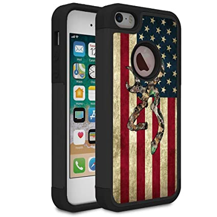 detailed look a6638 537b6 iPhone 5S Case,iPhone SE Case,iPhone 5 Case,Rossy Camo American Flag Design  Shock-Absorption Hard PC and Soft Silicone Dual Layer Hybrid Armor ...