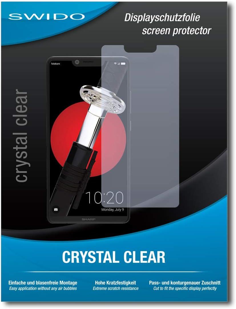 SWIDO® Protector de Pantalla para Sharp Aquos D10 [Crystal Clear], [2 Piezas] Transparente, Invisible, Anti-Huella Dactilar: Amazon.es: Electrónica